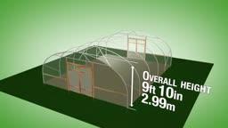 طرح ساخت گلخانه با عرض 7.32 متر و ارتفاع 2.99 متر