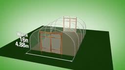 طرح ساخت گلخانه با عرض 4.88 متر و ارتفاع 2.54 متر