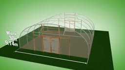 طرح ساخت گلخانه با عرض 9.14 متر و ارتفاع 3.73 متر