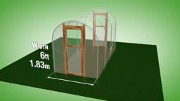 طرح ساخت گلخانه با عرض 1.83 متر و ارتفاع 2.08 متر