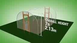طرح ساخت گلخانه با عرض 3.05 متر و ارتفاع 2.13 متر