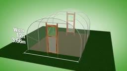 طرح ساخت گلخانه با عرض 3.66 متر و ارتفاع 2.31 متر