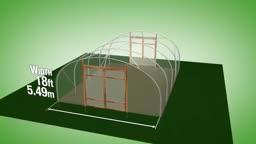طرح ساخت گلخانه با عرض 5.49 متر و ارتفاع 2.59 متر