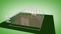 طرح ساخت گلخانه با عرض 7.92 متر و ارتفاع 2.99 متر