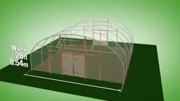 طرح ساخت گلخانه با عرض 8.54 متر و ارتفاع 3.71 متر